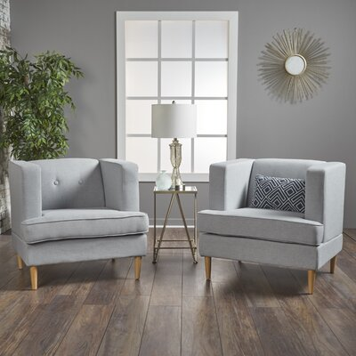 Burnham Armchair Upholstery: Light Gray
