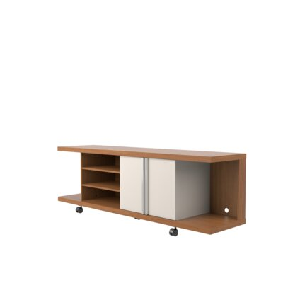 Monongah 71 TV Stand Color: Maple Cream/Off White