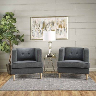 Burnham Armchair Upholstery: Dark Gray