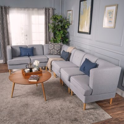 Farberware Modular Sectional Upholstery: Light Gray