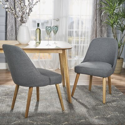 Bowyer Upholstered Dining Chair Upholstery Color: Charcoal
