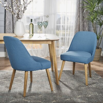 Bowyer Upholstered Dining Chair Upholstery Color: Teal