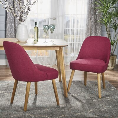 Bowyer Upholstered Dining Chair Upholstery Color: Deep Red