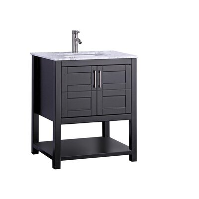 Mallouk Modern 24 Single Bathroom Vanity Set Base Finish: Espresso