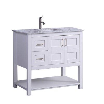 Mallouk Modern 36 Single Bathroom Vanity Set Base Finish: White