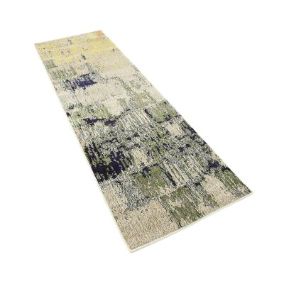 Ned Beige Abstract Area Rug Rug Size: Runner 22 x 66