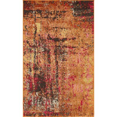 Ned Orange Tibetan Area Rug Rug Size: Rectangle 33 x 53