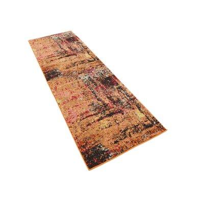 Ned Orange Tibetan Area Rug Rug Size: Runner 22 x 67