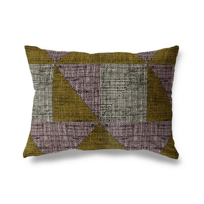 Albertyne Textured Triangles Lumbar Pillow Size: 18 x 24
