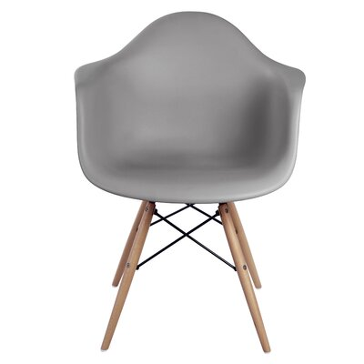 Pospisil Arm Chair with Wooden Legs Finish: Gray