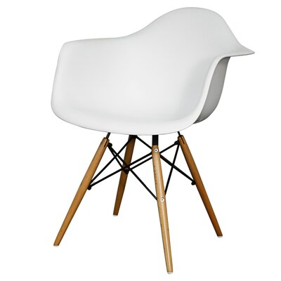 Pospisil Arm Chair with Wooden Legs Finish: White