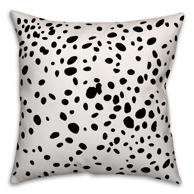 Corrales Dalmatian Spots Throw Pillow Size: 16 x 16