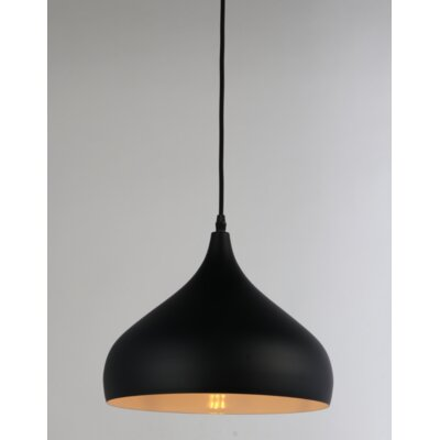 Brantner 1-Light Mini Pendant Finish: Black