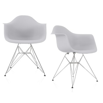 Dreier Molded Dining Chair Color: Light Gray