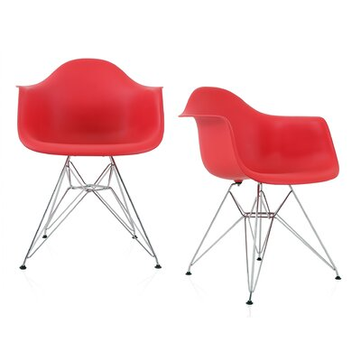 Dreier Molded Dining Chair Color: Red