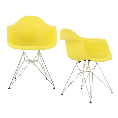 Dreier Molded Dining Chair Color: Light Yellow