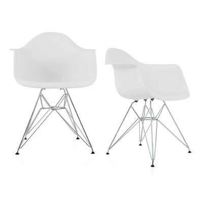 Dreier Molded Dining Chair Color: White