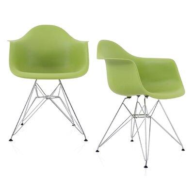 Dreier Molded Dining Chair Color: Green