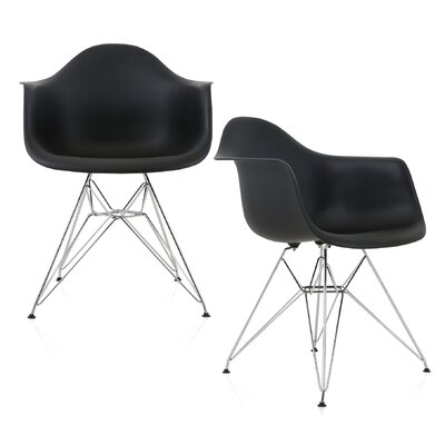 Dreier Molded Dining Chair Color: Black