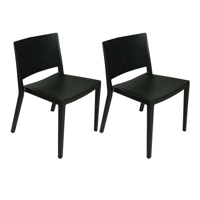 Burrus Dining Chair Color: Black