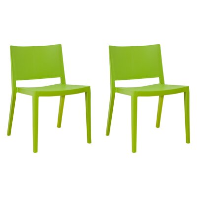 Burrus Dining Chair Color: Green