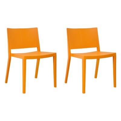 Burrus Dining Chair Color: Orange