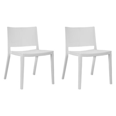 Burrus Dining Chair Color: White