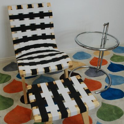 Burwell Lounge Chair Color: Black/White
