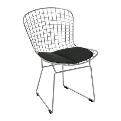 Burkey Wire Dining Chair Upholstery Color: Black