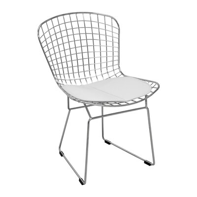 Burkey Wire Dining Chair Upholstery Color: White