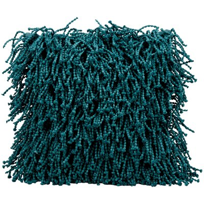 Lansvale Shag Throw Pillow Color: Teal