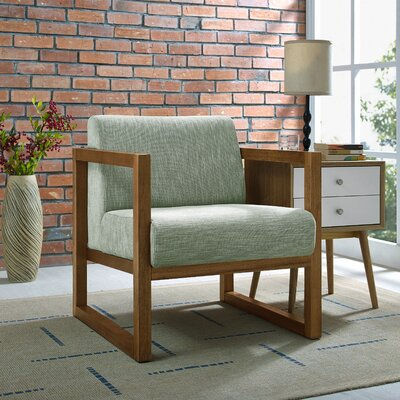 Creager Armchair Upholstery: Green