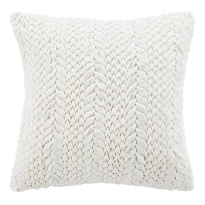 Dandridge 100% Cotton Throw Pillow Size: 20 H x 20 W, Color: Cream