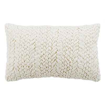 Dandridge 100% Cotton Throw Pillow Size: 12 H x 20 W, Color: Cream