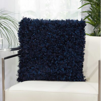 Mikonos Solid Throw Pillow Color: Indigo