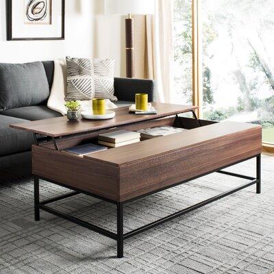 Reda Lift-Top Coffee Table with Storage Top Color: Dark Oak
