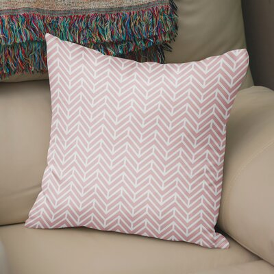 Marshall Square Throw Pillow Size: 24 H x 24 W x 5 D, Color: Pink