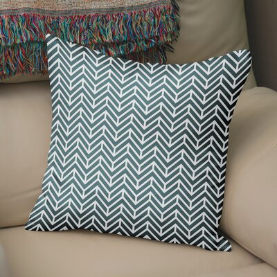 Marshall Square Throw Pillow Size: 16 H x 16 W x 5 D, Color: Teal