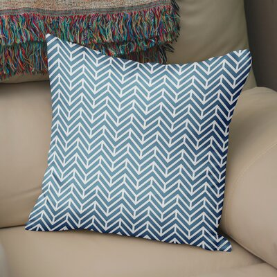 Marshall Square Throw Pillow Size: 16 H x 16 W x 5 D, Color: Blue