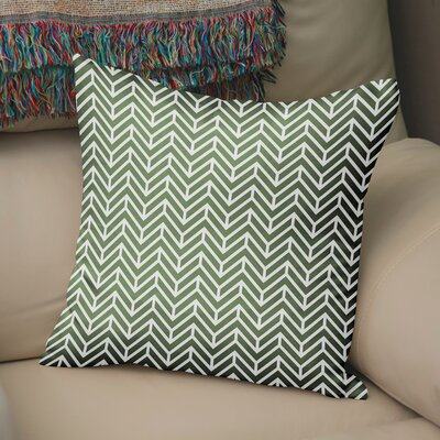 Marshall Square Throw Pillow Size: 18 H x 18 W x 5 D, Color: Green