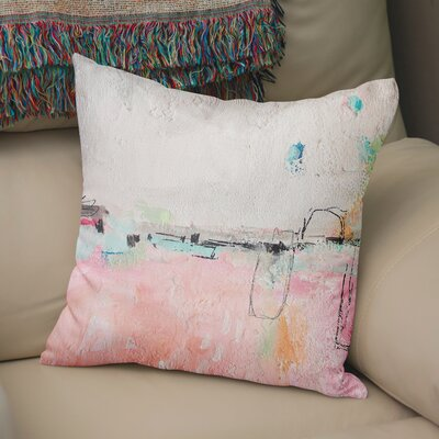 Lyka Throw Pillow Size: 24