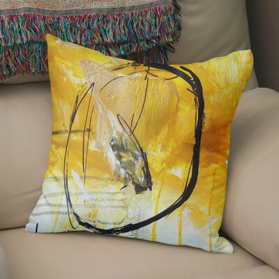 Rosalva Gold Universe Throw Pillow Size: 18 x 18