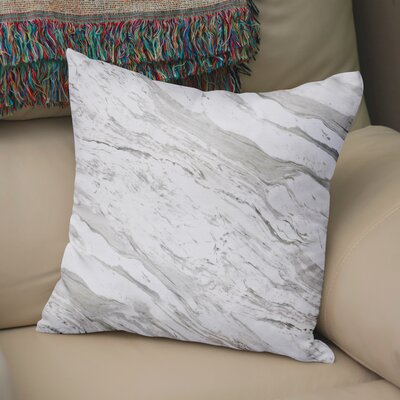 Dalessio Contemporary Marble Throw Pillow Size: 18 H x 18 W