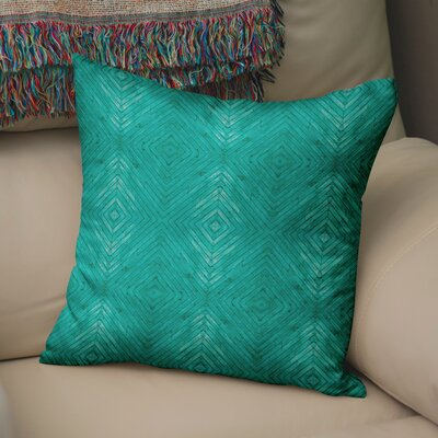 Mendez Turquoise Wood Throw Pillow Size: 24 H x 24 W x 6 D