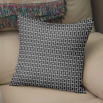 Buariki Throw Pillow Color: White/Black, Size: 18 H x 18 W