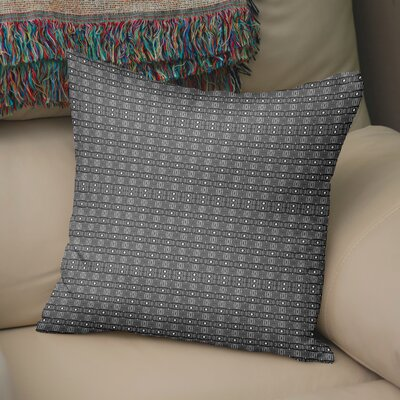 Buffington Throw Pillow Color: White/Black, Size: 18 H x 18 W