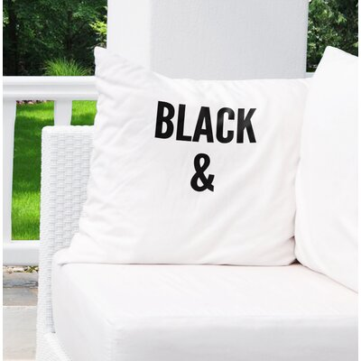Daye B&W Indoor/Outdoor Throw Pillow Size: 18 H x 18 W x 8 D