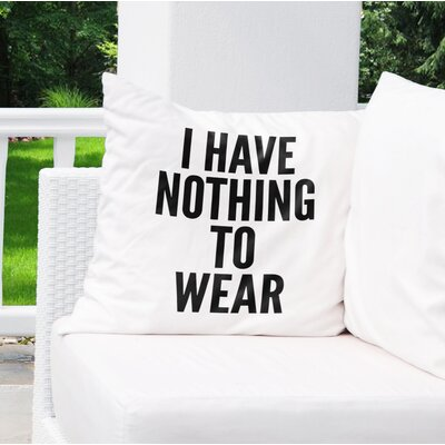 Deangelis Nothing Indoor/Outdoor Throw Pillow Size: 26 H x 26 W x 8 D