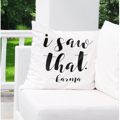 Corvus Indoor/Outdoor Throw Pillow Size: 26 H x 26 W x 8 D