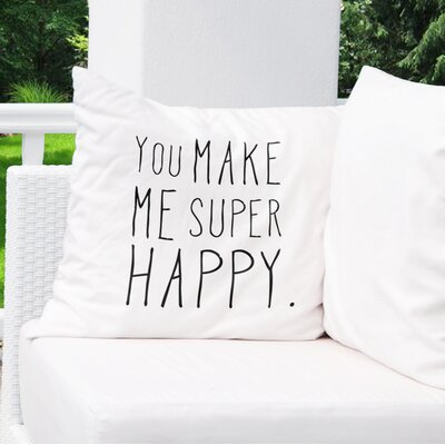 Inspired Indoor/Outdoor Throw Pillow Size: 26 H x 26 W x 8 D